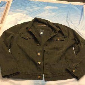 Men's Tommy Hilfiger Olive Green Denim Jacket